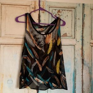 Body central sheer tank top never worn